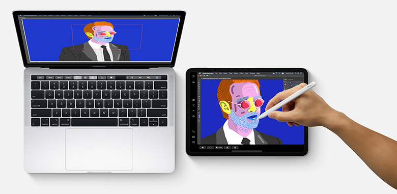 Apple MacBook iPad Apple Pencil Photoshop