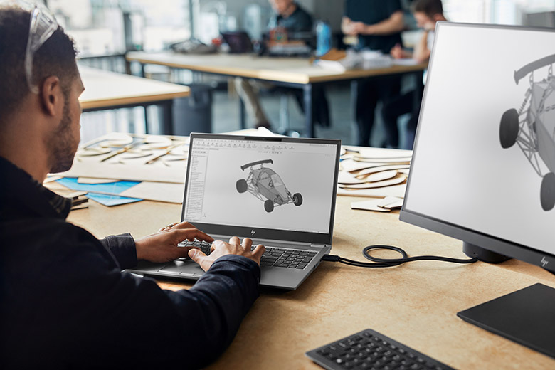 HP ZBook mit 4K Display
