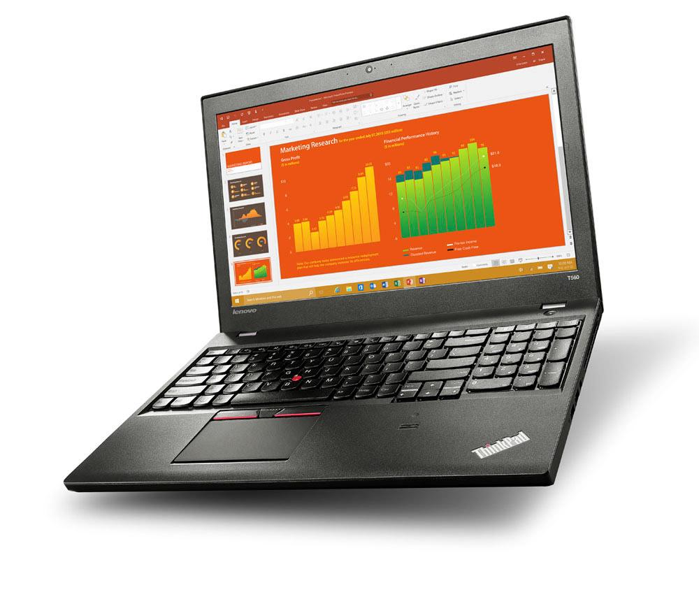 Lenovo ThinkPad T560 Office Diagramm Orange